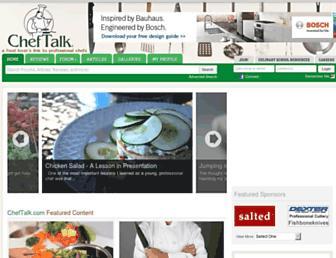 cheftalk.com screenshot