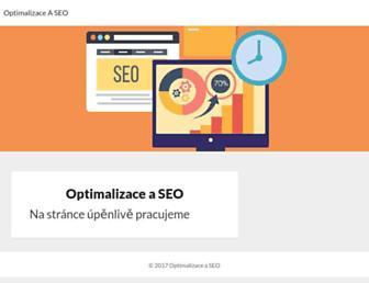 Main page screenshot of optimalizace-seo.eu