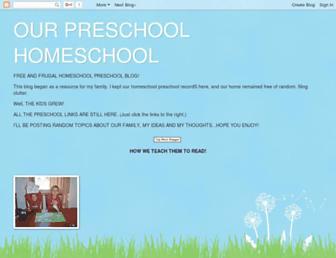 ourpreschoolhomeschool.blogspot.com screenshot