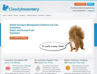 clearlyinventory.com screenshot