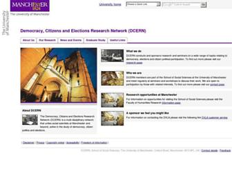 Main page screenshot of dcern.org.uk