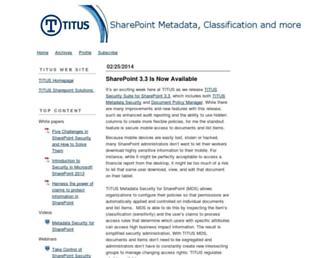 sharepointmetadataandclassification.typepad.com screenshot