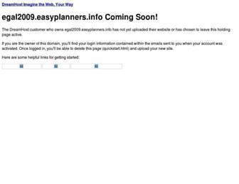 egal2009.easyplanners.info screenshot