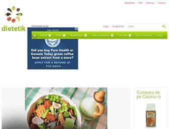 Main page screenshot of dietetik.ro