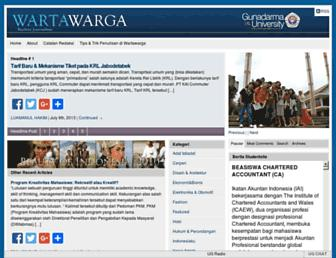 wartawarga.gunadarma.ac.id screenshot