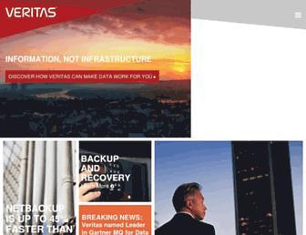 veritas.com screenshot