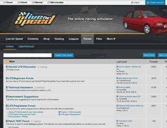 Main page screenshot of lfsforum.net