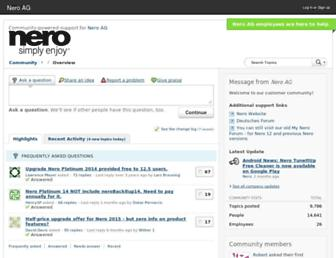 forum.nero.com screenshot