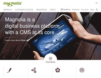 magnolia-cms.com screenshot