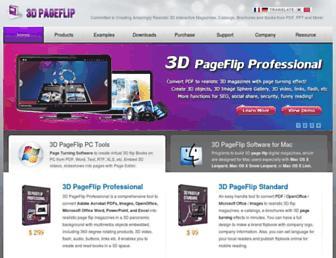 3dpageflip.com screenshot