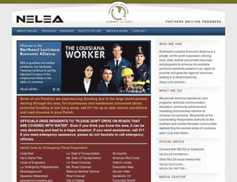 Main page screenshot of nelea.us