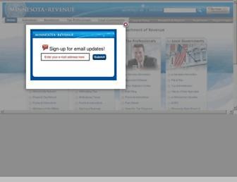 revenue.state.mn.us screenshot