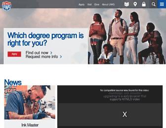 westga.edu screenshot
