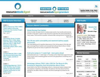resourcestockdigest.com screenshot