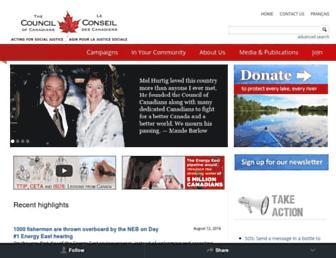 canadians.org screenshot