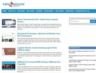 tips2secure.com screenshot