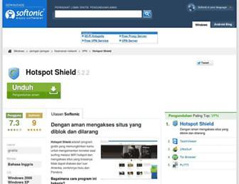 hotspot-shield.id.softonic.com screenshot