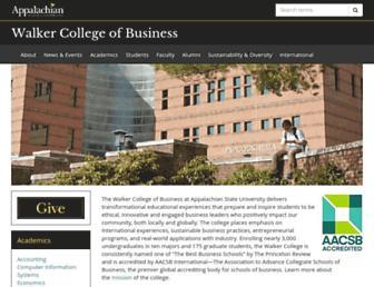 business.appstate.edu screenshot
