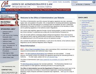 oal.ca.gov screenshot