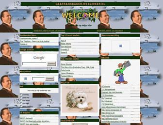 Main page screenshot of geafransbauer.weblinker.nl