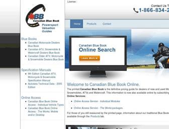 canadianbluebook.com screenshot
