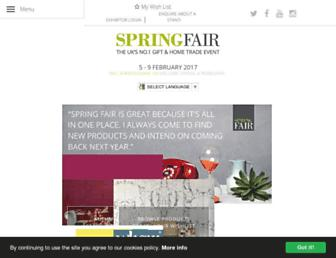 springfair.com screenshot