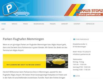 Main page screenshot of storz-parkservice.de