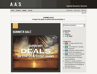 applied-acoustics.com screenshot
