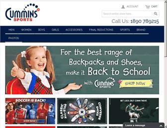 cumminssports.ie screenshot