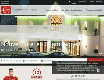 contact-hotel.com screenshot
