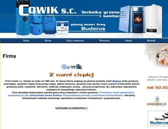 Main page screenshot of cowik.pl