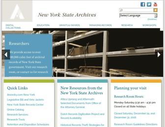 archives.nysed.gov screenshot