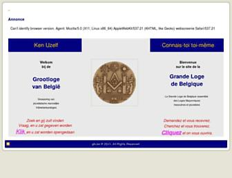 Main page screenshot of glb.be