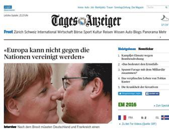 Main page screenshot of tagesanzeiger.ch