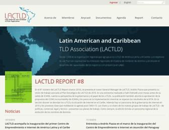 Main page screenshot of lactld.org