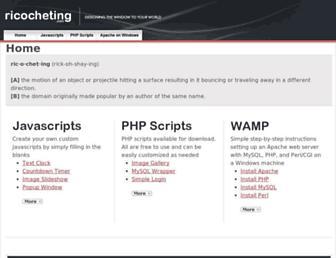 ricocheting.com screenshot
