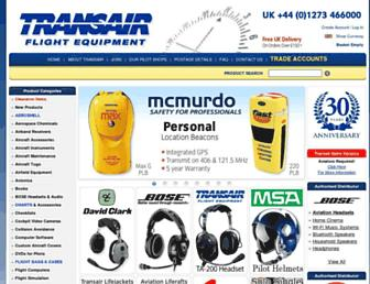 Main page screenshot of transair.co.uk