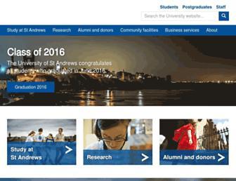 Main page screenshot of st-andrews.ac.uk