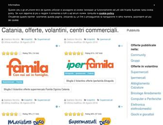 Main page screenshot of cataniacentrocommerciale.info