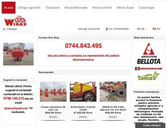 utilaje-agricole-wirax.com screenshot