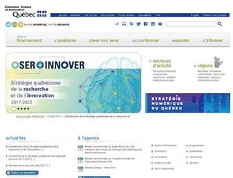 Main page screenshot of mdeie.gouv.qc.ca