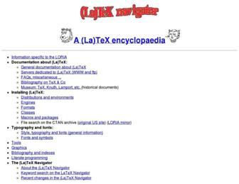 tex.loria.fr screenshot