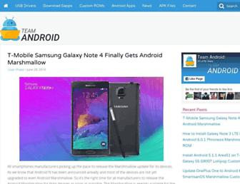 teamandroid.com screenshot