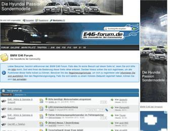 Main page screenshot of e46-forum.de