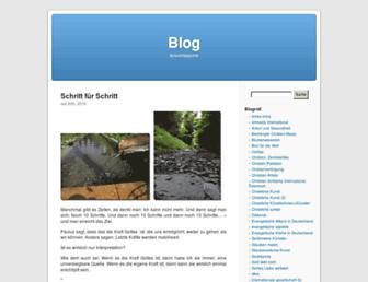 Main page screenshot of blog.wolfgangfenske.de