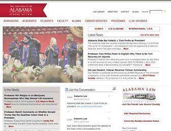 Main page screenshot of law.ua.edu