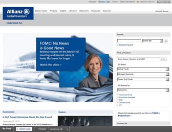 us.allianzgi.com screenshot