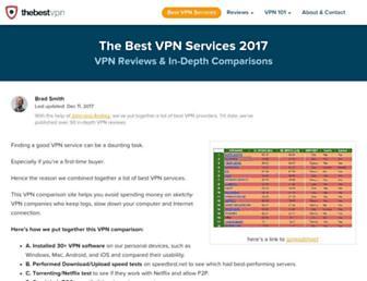 thebestvpn.com screenshot