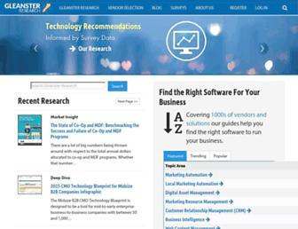 gleanster.com screenshot