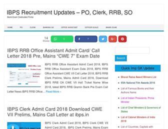 ibpsrecruitment.co screenshot